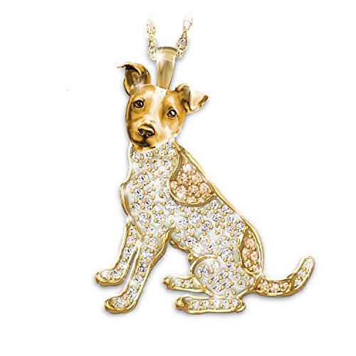 """Best In Show"" Dog Pendant Necklace With Swarovski Crystals: Jack Russell Terrier by The Bradford Exchange"