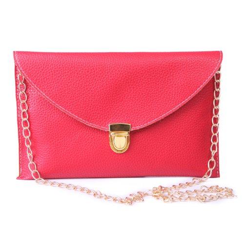 HDE Fashion Leather Envelope Shoulder