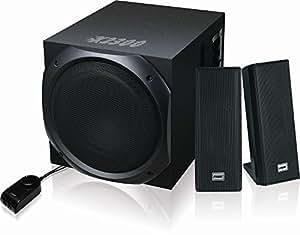 Speed X-2300 2.1 Stereo Speaker System for Desktop PC, MP3, iPad, iPhone (Black)
