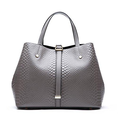 GUANGMING77 Ms_Bag Tasche Tasche Einfache Tragbare Weiblich Dark grey u28aj5HxX2