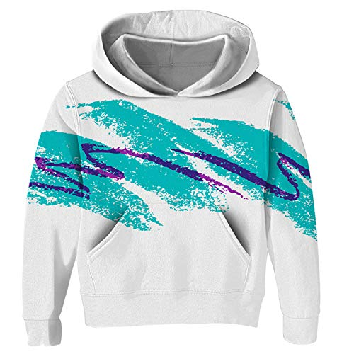 (Uideazone Collage Hoodie 90s Cup Themed Torso Covering Hooded Sweatshirts)