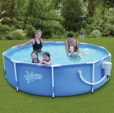 Amazon.com : SUMMER ESCAPES ABOVE GROUND FAMILY SWIMMING POOL 10\' X ...