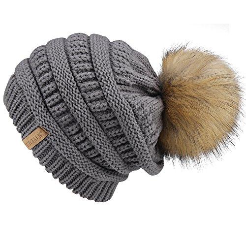 Pom Knit Hat - 7