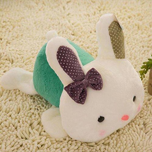 Plüschtier Kuschelweiches Weiches Legen von Kaninchen Puppe Plüsch Kaninchen Spielzeug Kaninchen Kind Geschenk (Grün, 20cm)