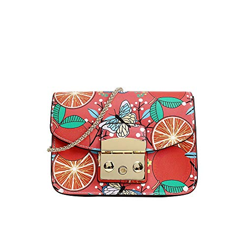 Bandolera Pintado Para Bolsos Mujer Fruit Niñas Diseñador De Love Con Bolso Cuero Estampado color Hombro Uzanesx vwEdIqw