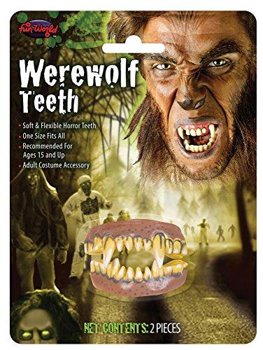 (Fun World Men's Teeth Werewolf Accessory, Multi,)