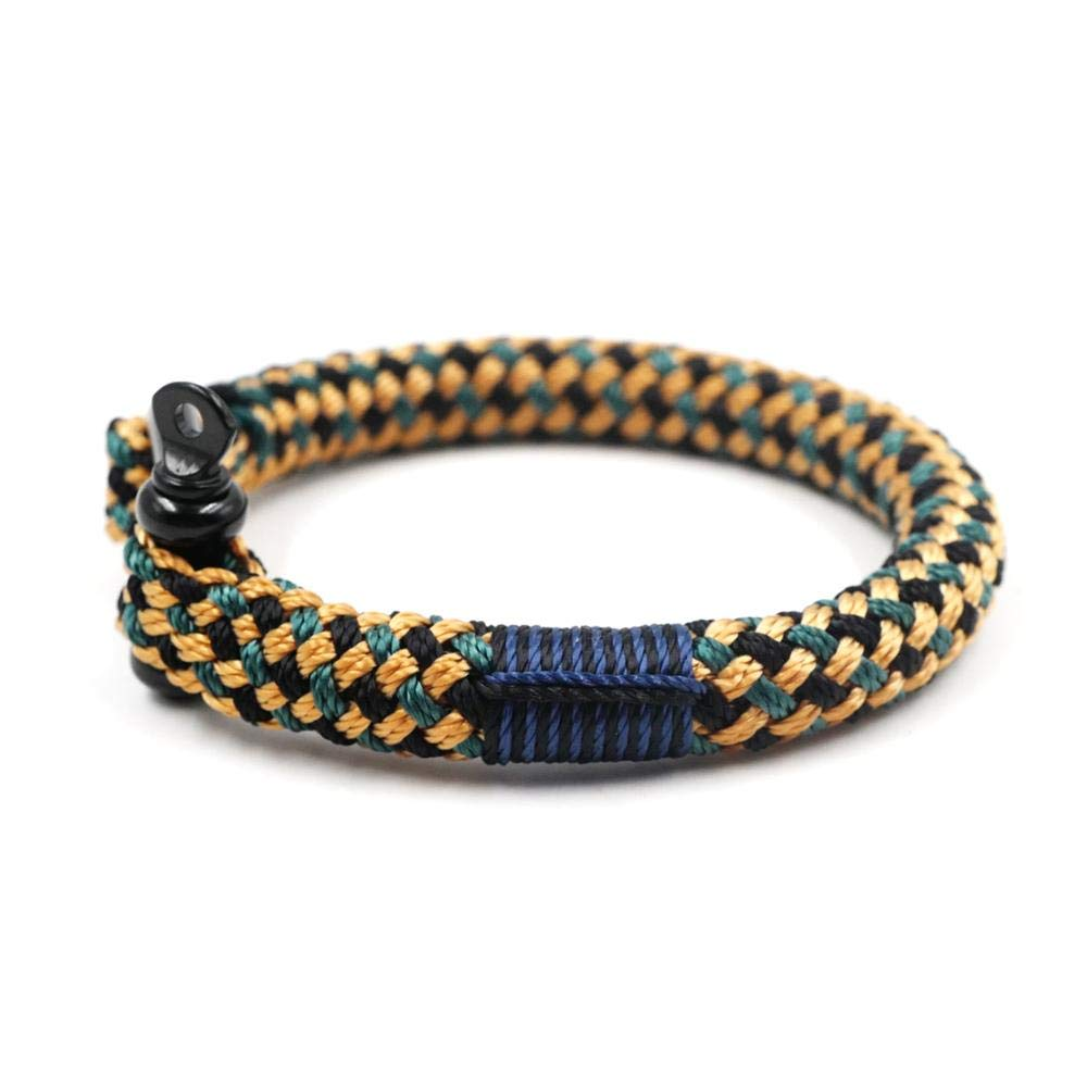 TTHER Nautical Rope - Women Men Nautical Braided Bracelet Hand-Made Yachting Rope Military Paracord Bracelet Wristband W/D-Shackle BRT-N518 by TTHER