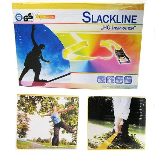 Classic Slackline Walking Rope 15 Meter/49 Feet 15M Tightrope Funline + Bag NEW