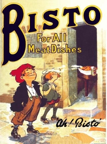 Bisto - For All Meat Dishes - Mini Metal Wall Sign SIGNS 2 ALL LTD