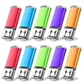 JUANWE 3 Pack 16GB USB Flash Drive USB 2.0 Thumb Drives Fold Storage Memory Stick Pen - Red/Blue/Green(16GB,3 Mixed Color) by JUANWE