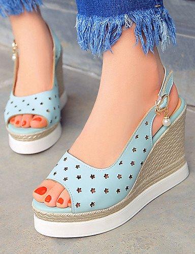 ZQ Zapatos de mujer - Tac¨®n Cu?a - Cu?as / Tacones / Punta Abierta / Plataforma - Sandalias / Tacones - Exterior / Vestido / Casual - , pink-us9 / eu40 / uk7 / cn41 , pink-us9 / eu40 / uk7 / cn41 white-us7.5 / eu38 / uk5.5 / cn38