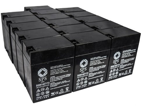 SPS Brand 6V 14 Ah Terminal T1T2 Replacement Battery for Ohio Medical Products 504US Pulse OXIMETER (16 Pack)
