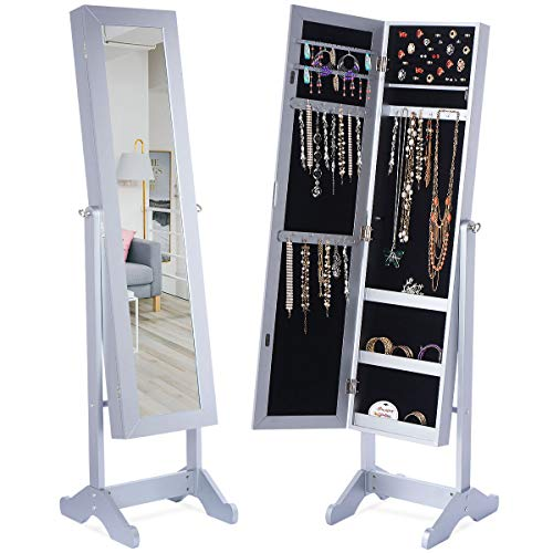 Giantex Jewelry Cabinet Armoire with Mirror, Large Storage 57