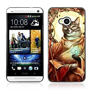 Designer Depo Hard Protection Case for HTC One M7 / Cat Prophet