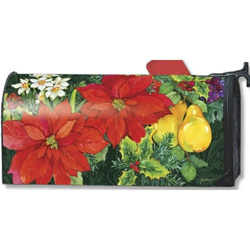 MailWraps Poinsettia Fruit Mailbox Cover 06395 by MailWraps
