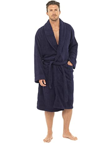 Men Towelling Robe 100% Cotton Terry Towel Bathrobe Dressing Gown Bath  Perfect for Gym Shower 535c04b41