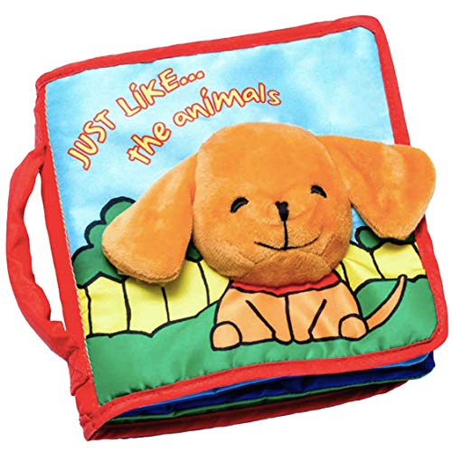 - ToBe ReadyForLife Cloth Book Baby Gift, Interactive Soft Book for Babies, 1 Year Old Infant or Toddler, Educational Learning Toy with Gift Box for Baby Shower, Touch & Feel Activity, Crinkle Peekaboo