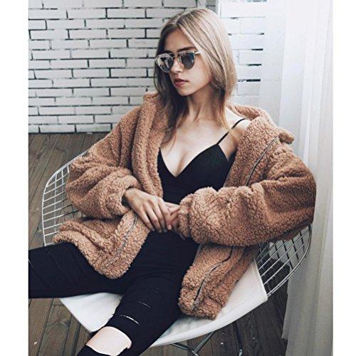 Fausse Oversize Fourrure Blouson Kaki Parka Femme Outwear OverDose Hiver Veste Manteau 5Sw6IFnq