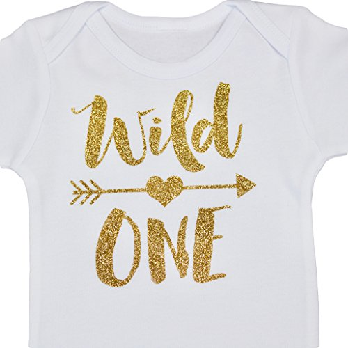 Home Baby Girl Wild One Gold Glitter Girls 1st Birthday ...