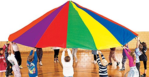 Heavy-Duty 20' Parachute with reinforced handles by Great Lakes Sports