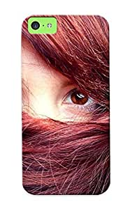 C090f7a7346 Case Cover, Fashionable Iphone 5c Case - Face Covered By Hair by mcsharks