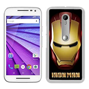 Motorola Moto G 3rd Generation Case ,Iron man 58 White Moto G 3rd Gen Cover Unqiue And Durable Custom Designed Phone Case