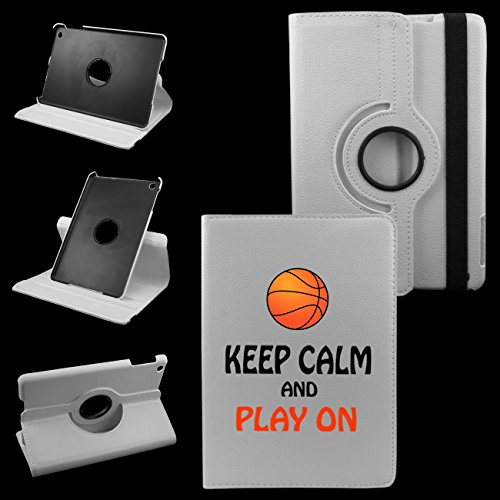 Price comparison product image Ipad Air 2 (6th Generation 2014) Keep Calm And Play Basketball On White Cover