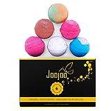Joojoo Bath Bombs- SIX EXTRA LARGE 4.5oz Ultra Lush Fizzy bath bombs per bath bomb kit-- Handmade in USA - Lavender, Moonlight & Roses, Cucumber Melon, Crazy Love, Petal Dance, Kiss Me