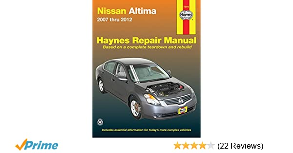 Nissan altima 2007 2012 repair manual haynes repair manual nissan altima 2007 2012 repair manual haynes repair manual haynes 0038345720161 amazon books fandeluxe Gallery