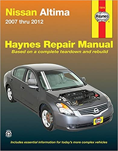 Nissan altima 2007 2012 repair manual haynes repair manual nissan altima 2007 2012 repair manual haynes repair manual 1st edition fandeluxe Gallery