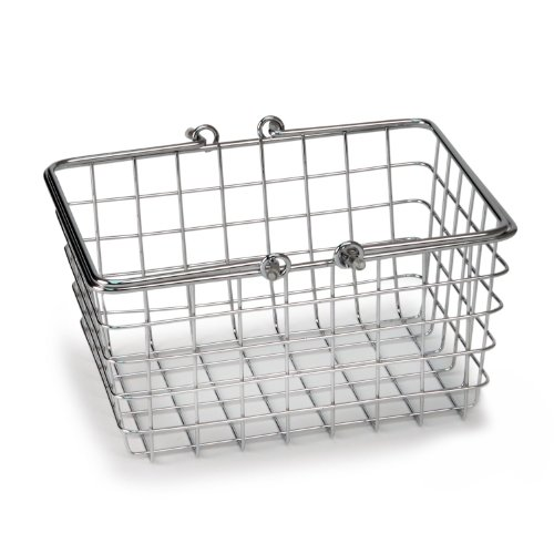 Spectrum Diversified Wire Storage Basket, Small, Chrome