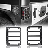 Matte Black Rear EuroTail Light Taillight Cover Guard for 2007-2018 Jeep JK Wrangler