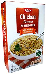Winco Foods CHICKEN FLAVORED STUFFING MIX 6oz (6 Pack)