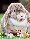Epic Bunny SketchBook for Girls: Blank Paper for