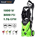 Schafter ST5 Pressure Washer, 3000 PSI Electric Pressure Washer 1800W Power Washer Rolling Wheels Pressure Washer, Hose Reel Review