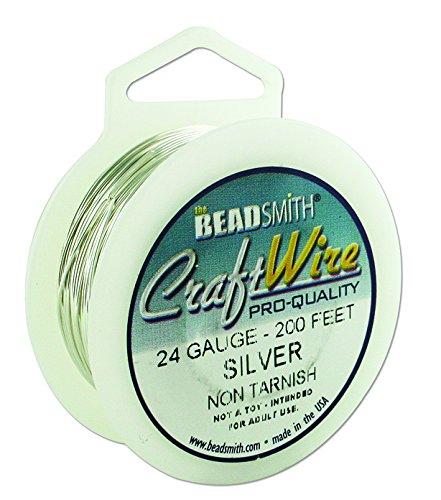 Beadsmith Non Tarnish Craft Wire (24, Silver)