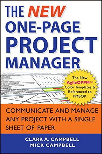 Price comparison product image The New One-Page Project Manager: Communicate and Manage Any Project With A Single Sheet of Paper