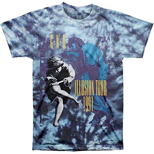 Bravado  Guns N Roses Illusions 91 Tour Tie-Dye Men's T-Shirt