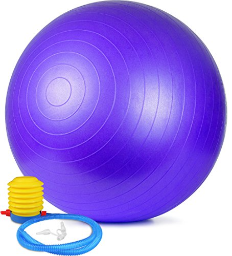 Utopia Home  Anti Burst Exercise/Stability/Yoga/Fitness Ball  with Foot Pump  Total Body Balance