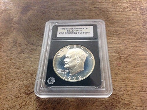 Genuine ~1972-S Silver Proof Eisenhower Ike Dollar 1- PGS PR70 Full Strike (CC1541)