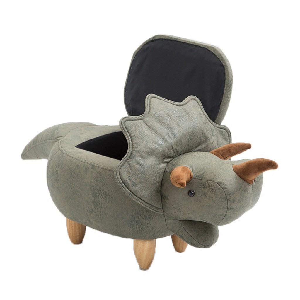 ZDXMZ Storage Stool,Series Upholstered Ride-on Storage Footrest Stool with Vivid Adorable Animal Shape (Color : C) by ZDXMZ