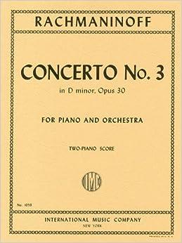 ラフマニノフ : ピアノ協奏曲 第3番 ニ短調 Op.30/インターナショナル・ミュージック社/2台ピアノ用編曲