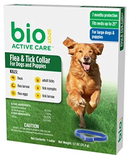 Bio Spot Active Care Flea and Tick Collar for Large Dogs,...