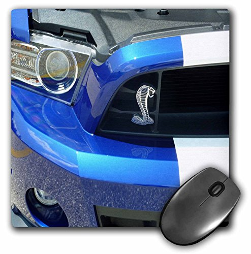 3dRose LLC 8 x 8 x 0.25 Inches Mouse Pad, New Mustang Cobra Beauty (mp_62394_1)