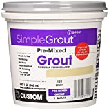 Custom PMG122QT 1-Quart Simple Premium Grout, Linen