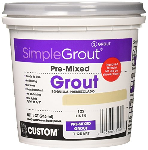 Custom PMG122QT 1-Quart Simple Premium Grout, - Linen Tile