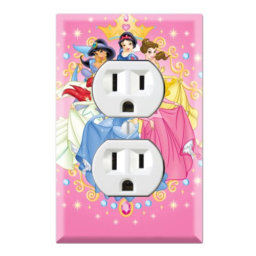 Friends Switchplate (Duplex Wall Outlet Plate Decor Wallplate - Princess Friends)