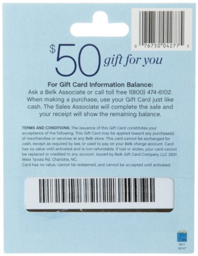 Amazon.com: Belk Gift Card $25: Gift Cards