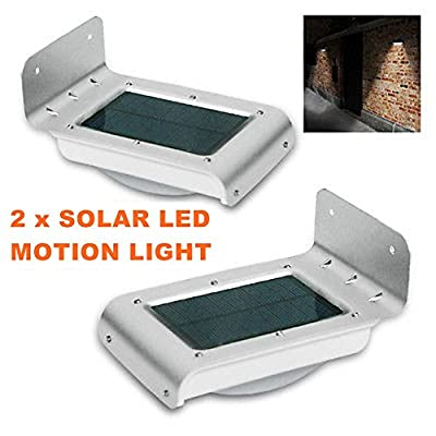 2 X 16 LED Solar Power Motion Sensor Garden Security Lamp Waterproof Light TKT-11