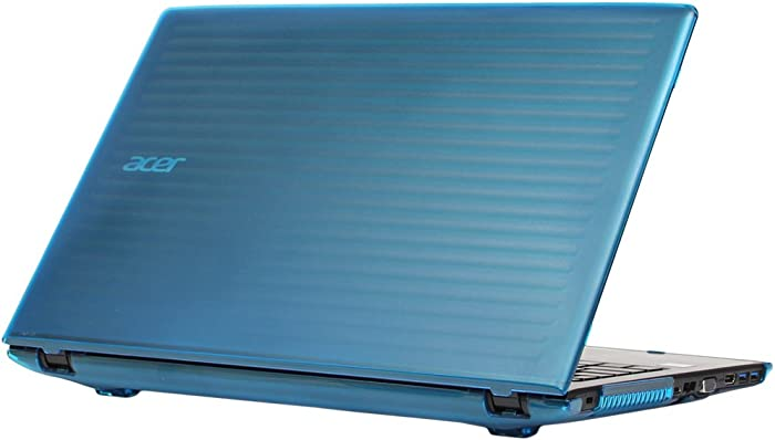 "mCover Hard Shell Case for 15.6"" Acer Aspire E 15 E5-575 / E5-576 Series Windows Laptop (Aqua)"